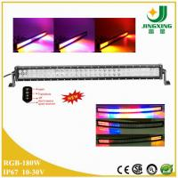 China NEW! RGB strobe 180w led light bar for truck jeep RV SUV ATV offroad boat on sale
