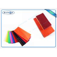 China Different Color Different Gram Non Woven Tablecloth Cutting Packing Put Into Carton wholesale