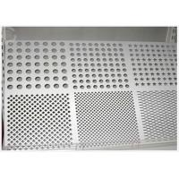 China Round Hole Perforated Aluminum Plate , 3003 H14 Aluminum Sheet With Holes wholesale