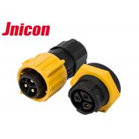 China 3 Pin Soldering Waterproof Cable Connector , IP67 Panel Mount Connector wholesale