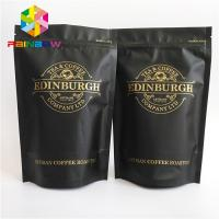 China Plastic zipper Bottom Gusset Bags 500g stand up resealable coffee ziplock pouch wholesale