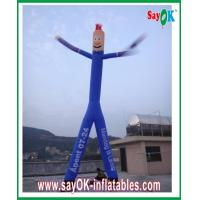 China Blue Inflatable Air Dancer Rip-stop Nylon Cloth With Two Legs on sale
