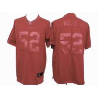 China nike nfl San Francisco 49ers 52 Willis red drenched jersey wholesale