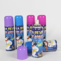 China Resin 200ml Tinplate Can Flake Snow Spray For Celebration Party wholesale