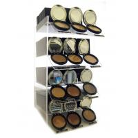 China 4 Tier Acrylic Cosmetic Display Stand , PMMA Organizer Holder Case wholesale