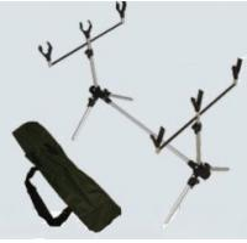 "China Aluminum Carp Fishing Rod Pod With 3 ""V"" style rodrest front with thread wholesale"