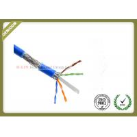 China 1000ft Cat6 SFTP Network Cable , 23AWG Cat6 Internet Cable With PVC / LSZH Jacket wholesale