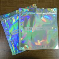 China Clothes Underwear Packaging Stand Up Zipper Pouch Bags Iridescent Glitter Holographic Ziplock wholesale