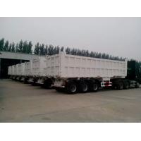 China 2 / 3 Axles 60T Playload Semi Dump Trailer Truck For Transport Coal Colorful wholesale