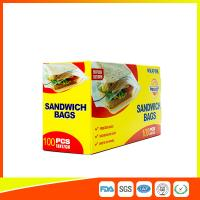 China Food Grade Plastic Clear Recyclable Sandwich Bags , Reusable Bag With Zipper wholesale