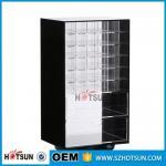 China Wholesale Competive Price acrylic Black Spinning Makeup Organizer wholesale