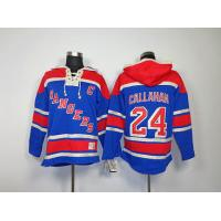 China NHL New York Rangers 24# Ryan Callahan Blue Hoodies Jersey wholesale