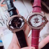 China Chanel Watch colorful leather belt with diamond hollow out dial dress replica wrist watch jewelry braceket on sale