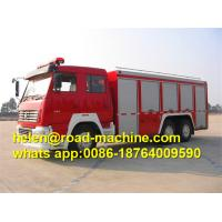 China SINOTRUK HOWO Fire Fighting Trucks , water tower fire truck 6x4 375hp Engine on sale