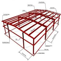 Buy cheap ASTM Warehouse Steel Structure / Prefab Steel Workshop With Free Design from wholesalers