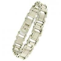China Golden Stainless Steel Chains charm Bracelets for Men 1420135 wholesale