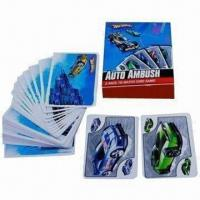 China Playing cards with 4 + C and green printing, environment material on sale