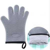 China Bakery Silicone Bbq Gloves , Flexible Silicone Rubber Gloves For Grilling wholesale