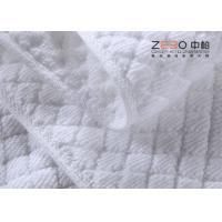 Quality 32S Yarn Customized Hotel Floor Towels 100% Cotton White Stone Pattern for sale