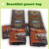 China Freshness protection Coffee gusset plastic bag, bag for coffee wholesale