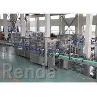 China Beverage Washing Filling Capping Machines , PET Glass Bottle Liquid Filling Machines wholesale