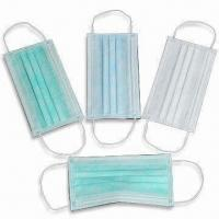 China Disposable Nonwoven Medical Masks, Latex and Fiberglass Free, Breathable wholesale