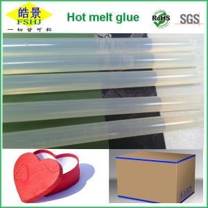 China 11mm Pure Clear Hot Glue Sticks , Silicone Non Toxic Hot Melt Glue Sticks on sale