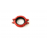 China 2 300PSI Flanged Ductile Iron Pipe Fittings Stainless Steel Grooved Pipe Coupling on sale