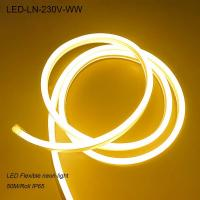 Quality IP44 230V Waterproof 1M cut-off flexible LED Neon strip lights/ LED strip Light for sale