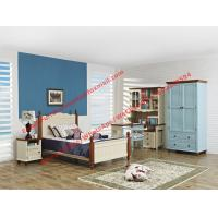 China Hotel style apartment interior furniture for single people bedroom set by double bed and read bookcase set with armoire wholesale