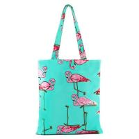 China Flower Pattern Zipper Printed Shopping Bags For Grocery Stores wholesale