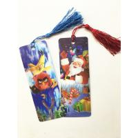 China Eco-friendly Lenticular 3D Bookmarks PET Material With Tassel Customized wholesale