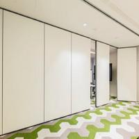 China Soundproof And Acoustic Sliding Folding Partitions MDF + Melamine Material wholesale