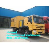 China HOWO 4 x 2 Light Duty Commercial Trucks Mobile Workshop Truck on sale