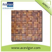 China Rustic solid wood wall mosaic tiles for inner house wall decoration wholesale