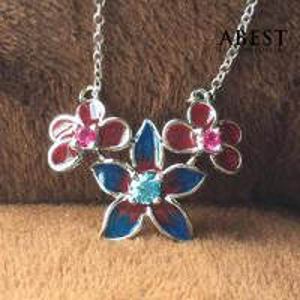 China Fashion 925 Sterling Silver Dragonfly Shape Color Enamel Pendant Gift Design wholesale