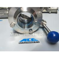 China Sanitary Stainless Steel Butterfly Valve with Weld Ends (ACE-DF-2D) wholesale