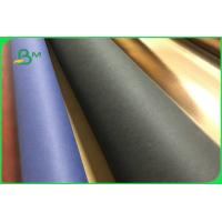 China Colorful Ecofriendly Washable Kraft Paper Fabric Jumbo Roll For Storage Bag on sale