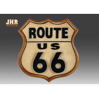 China Classic Route US 66 Wall Signs Wooden Wall Plaques Antique MDF Pub Sign Wall Decor on sale