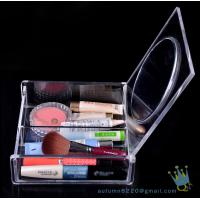 China acrylic clear cube makeup organizer drawer display wholesale
