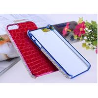 China   Red Alligator Skin Hard Covers for iPhone 5s Cell Phone Cases with Diamond Decorated wholesale