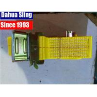 """Quality Yellow 2""""X20' E Track Ratchet Tie Down Straps With Cam Buckle W- 4' Short End for sale"""
