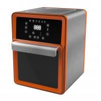 China Orange 11L Hot Air Fryer Oven PP & Steel Material With Big Digital Screen on sale