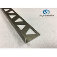 Quality 6063-T5 Polishing Bronze Aluminium Extrusion Profile Round Edge Aluminium Trim for sale