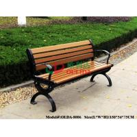 China Park Outdoor Patio Bench With Back No Painting , Antisepsis Recycled Plastic Benches wholesale