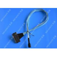 China SFF 8087 To SFF 8484 Internal SAS Cable Speed 10Gb Silver Plated Copper Conductor wholesale