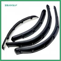 China Front And Rear Golf Cart Fender Flares Black Plastic With Mounting Hardware on sale