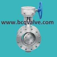China TRIPLE OFFSET FLANGED Butterfly valve with electric actuator connection plate on sale