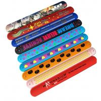 China Bulk Silicone Rubber Bracelets Logo Printable Debossed Silk Printing wholesale