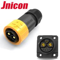 China Jnicon M23 Push Lock 50A 500V Circular Waterproof Connector for E-Scooter wholesale